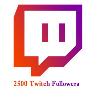 2500 Twitch Followers